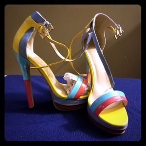 Shoes - New multi color heels